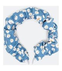 tiara com estampa margaridas | accessories | azul | u