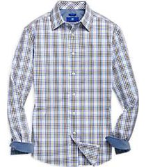 egara brown & blue plaid sport shirt