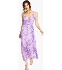 bar iii zebra-print wrap maxi dress, created for macy's