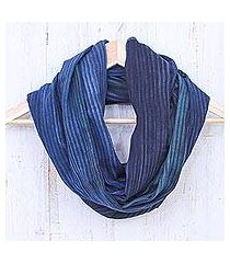 cotton infinity scarf, 'twilight skies' (thailand)
