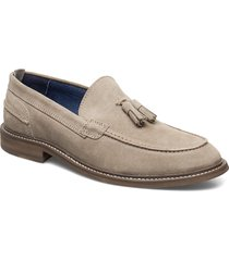 oklahoma loafers låga skor beige playboy footwear