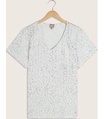 camiseta con textura animal print brillante-14