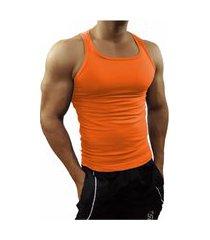 camiseta regata masculina tank01 laranja