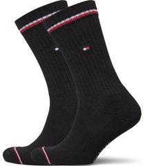 th men iconic sock 2p underwear socks regular socks svart tommy hilfiger