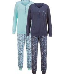 pyjama harmony jeansblauw/aqua