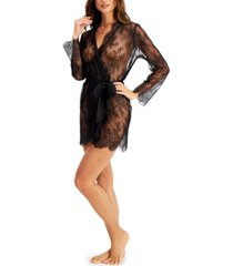 inc women's sheer lace wrap robe, created for macy's