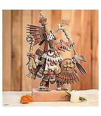 ceramic sculpture, 'aztec deities' (mexico)