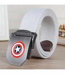 cinturón de hombres, cinturón casual de moda-blanco