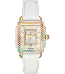 women's michele deco madison diamond dial watch head, 29mm x 31mm