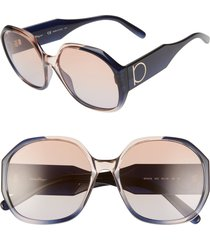 women's salvatore ferragamo gancio 60mm geometric sunglasses -
