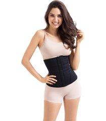 cinta modeladora abdominal feminina - cinta fitness para academia  - esbelt - preto - feminino - dafiti