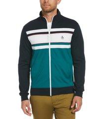 original penguin men's striped track jacket