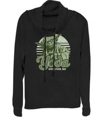 fifth sun star wars yoda one for me retro cowl neck sweater