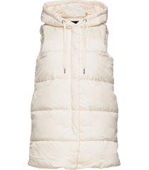 onlnewasta puffer waistcoat cc otw vests padded vests creme only