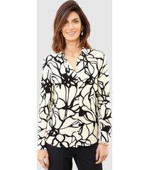 blouse mona ecru::zwart