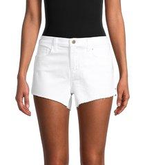 l'agence women's audrey side-zip shorts - blanc - size 30 (8-10)