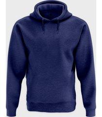 męska bluza z kapturem melanżowa (bez nadruku, gładka) - niebieska