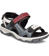 68872-13 shoes summer shoes flat sandals multi/mönstrad rieker