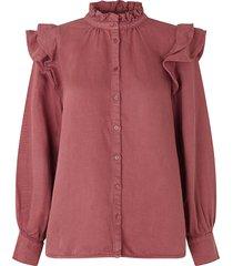 ruches blouse bella  roze