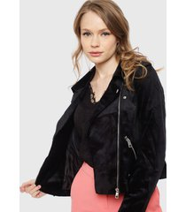 chaqueta vero moda marta negro - calce ajustado