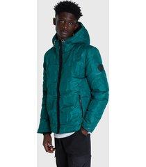 chaqueta desigual cataldo verde - calce regular