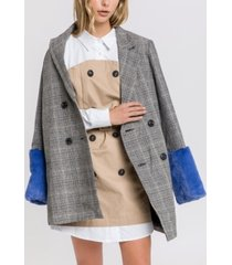 english factory jacket with combo faux fur