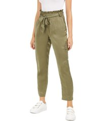 bar iii elastic-waist belted pants, created for macy's
