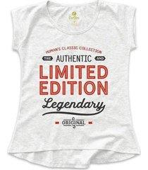 camiseta feminina t-shirt frases cool tees limited edition - feminino