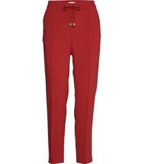 fiona drapey trousers pantalon met rechte pijpen rood filippa k