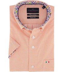 korte mouwen overhemd portofino oranje print