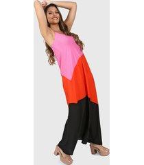 vestido fucsia vindaloo tricolor