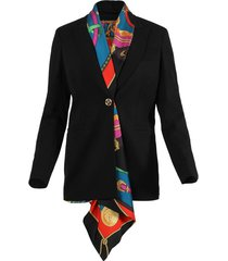 tailored scarf blazer jacket