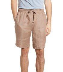 men's bugatchi solid linen shorts