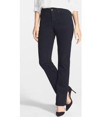 women's nydj 'billie' stretch mini bootcut jeans, size 0 - black