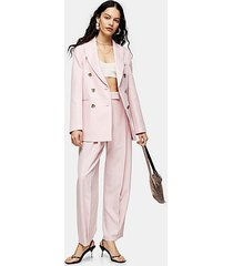 pink marl slouch suit pants - pale pink