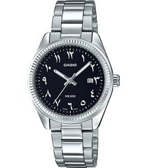 reloj casio ltp-1302d-1b3 análogo plateado