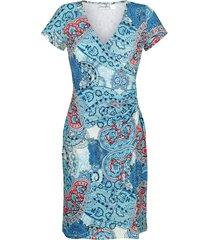 klänning i omlottlook dress in turkos