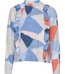 topi blouse blus långärmad multi/mönstrad storm & marie