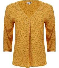 blusa con prense color amarillo, talla xs