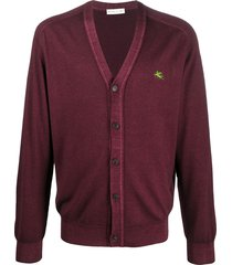 etro relaxed cardigan - red