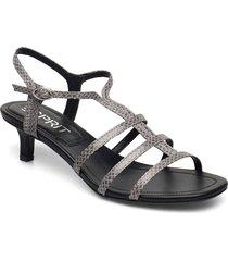 formal shoes others sandal med klack grå esprit casual