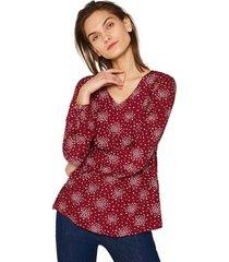 blusa casual rojo esprit