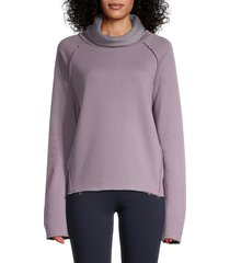 alala women's riki cowlneck pullover - haze - size xs