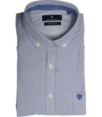 basefield overhemd blauw met streep 219015019/606