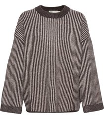 solaiw pullover gebreide trui bruin inwear