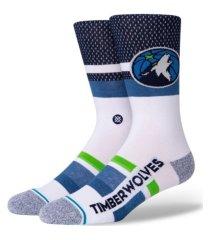 stance women's minnesota timberwolves shortcut 2 crew socks