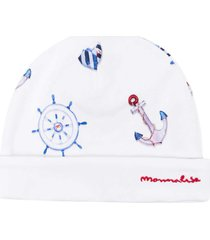 monnalisa cap with embroidery