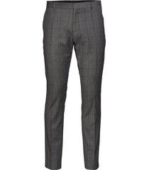slhslim-mylorob grey check trs b noos kostuumbroek formele broek grijs selected homme