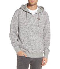 men's vans flurry half zip hoodie, size x-small - grey