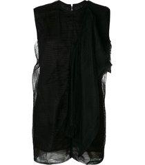 rick owens shield dress - black